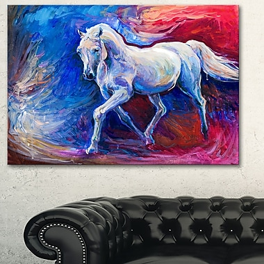 Blue Horse Animal Metal Wall Art, 28x12, (MT6302-28-12)