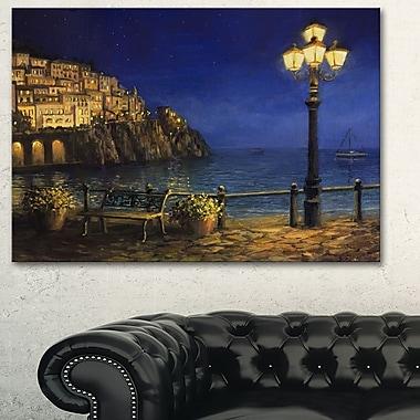 Summer Evening in Amalfi Landscape Metal Wall Art, 28x12, (MT6303-28-12)