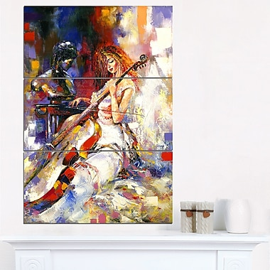 The Guitarists Music Metal Wall Art, 28x36, 3 Panels, (MT6304-28-36)