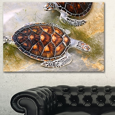 Sea Turtles in Nursery Animal Metal Wall Art, 28x12, (MT6319-28-12)