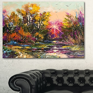 Farewell to Autumn Landscape Metal Wall Art, 28x12, (MT6321-28-12)