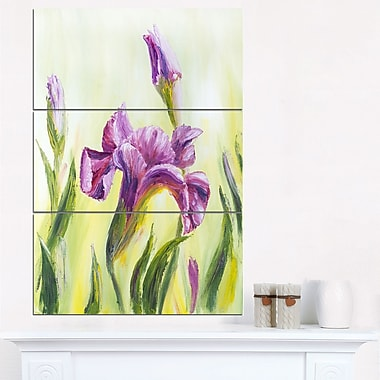 Dancing Irises Floral Metal Wall Art, 28x36, 3 Panels, (MT6323-28-36)