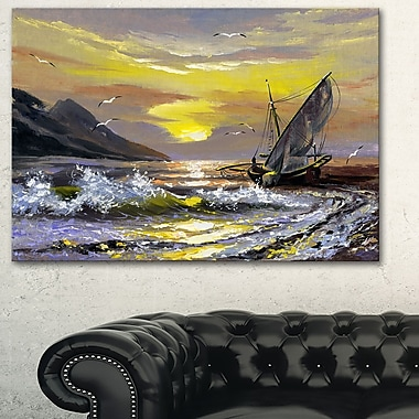 Meet you Soon Seascape Metal Wall Art, 28x12, (MT6325-28-12)