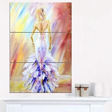 Art mural en métal portrait de femme au bal