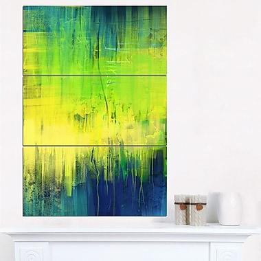 Green Blue Fusion Abstract Metal Wall Art