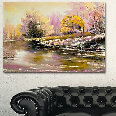 River's Farwell to Autumn Landscape, art mural en métal, 28 x 12 (MT6333-28-12)