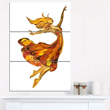Fire Ballerina Portrait Metal Wall Art