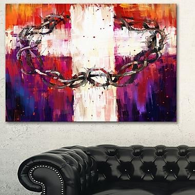 Art mural en métal, art abstrait couronne d'épines, 28 x 12 (MT6340-28-12)