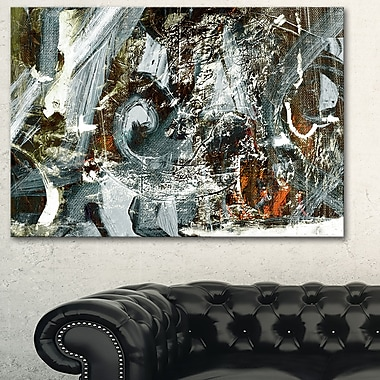 Contemporary Abstract Design Abstract Metal Wall Art, 28x12, (MT6370-28-12)