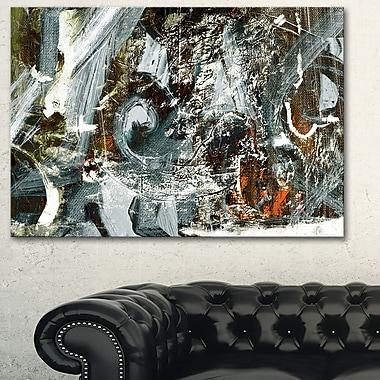 Art mural abstrait en métal, motif contemporain abstrait, 28 x 12 po, (MT6370-28-12)