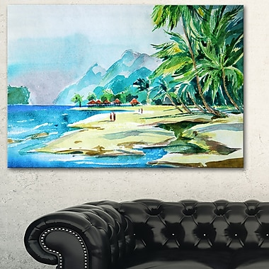 View from Shore Landscape, art mural en métal, 28 x 12 (MT6373-28-12)
