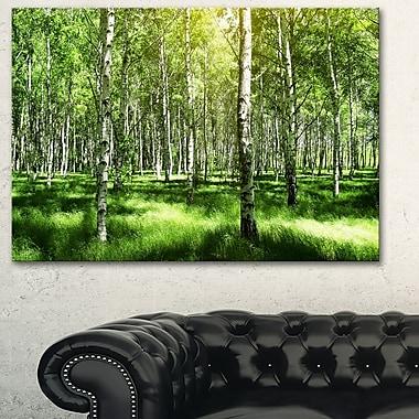 Art mural en métal, paysage, magnifique bosquet de bouleaux, 28 x 12 po, (MT6380-28-12)