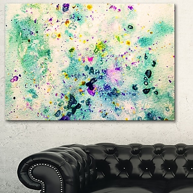 Colour Splatter Abstract Metal Wall Art, 28x12, (MT6382-28-12)