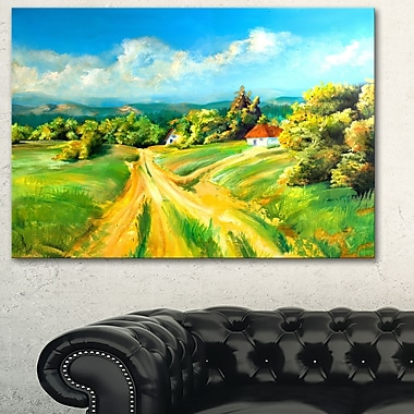 Colour of Summer Landscape Metal Wall Art, 28x12, (MT6385-28-12)