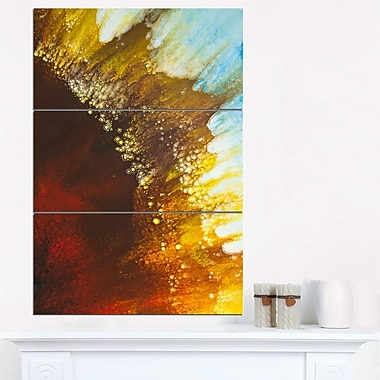 Blow of Brown Abstract Metal Wall Art, 28x36, 3 Panels, (MT6387-28-36)