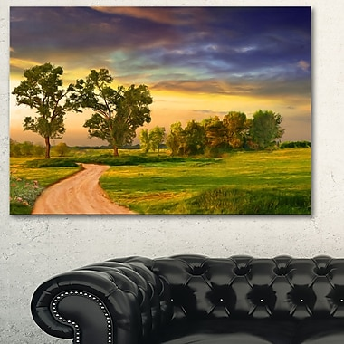 Road to Bliss Landscape Metal Wall Art, 28x12, (MT6391-28-12)
