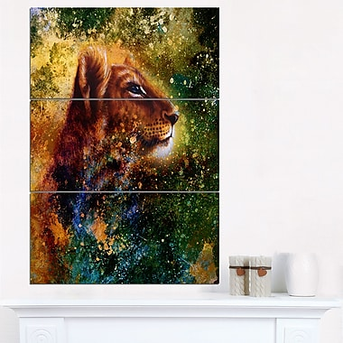 Thoughtful Lion Cub Animal Metal Wall Art