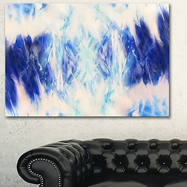 Blue Collage with Spots Abstract Metal Wall Art, 28x12, (MT6397-28-12)