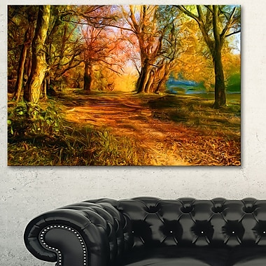 Beauty of Nature Landscape Metal Wall Art, 28x12, (MT6401-28-12)