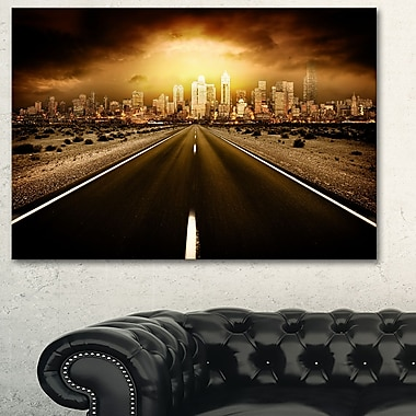 World's End Landscape Photography Metal Wall Art, 28x12, (MT6406-28-12)