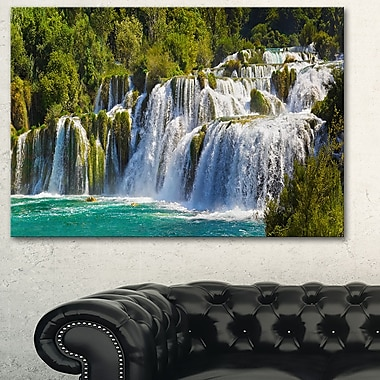 Waterfall KRKA Panorama Landscape Metal Wall Art, 28x12, (MT6409-28-12)