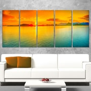 Sunset Over Sea Panorama Seascape Metal Wall Art