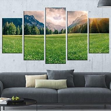 Art mural en métal, montagne Triglav panoramique, paysage