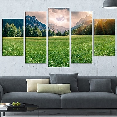 Triglav Mountain Panorama Landscape Metal Wall Art