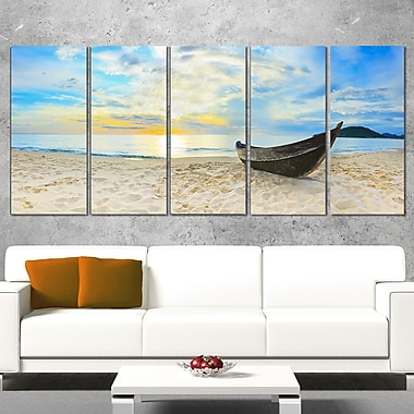 Calm Beach Panorama Photo Metal Wall Art