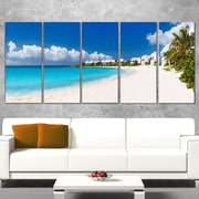 Caribbean Beach Panorama Landscape Photo Metal Wall Art