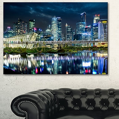 Singapore Financial District? Cityscape Metal Wall Art, 28x12, (MT6433-28-12)