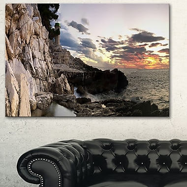 Adiratic Sunset Landscape Photography Metal Wall Art, 28x12, (MT6434-28-12)