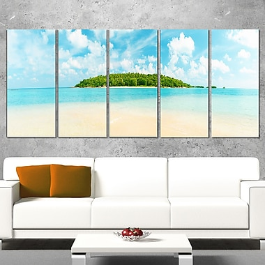 Tropical Island Panorama Photography Metal Wall Art