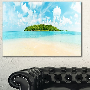 Tropical Island Panorama Photography Metal Wall Art, 28x12, (MT6435-28-12)