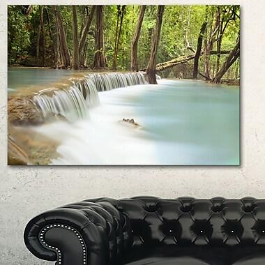 Huai Mae Kamin Waterfall Photography Metal Wall Art, 28x12, (MT6462-28-12)