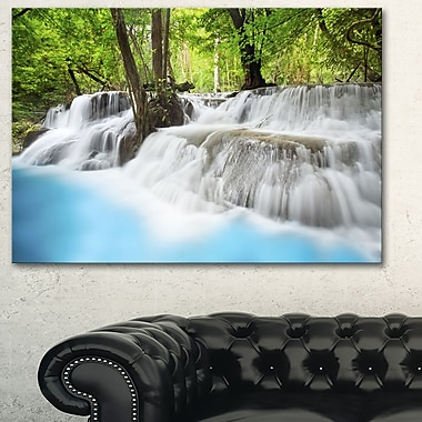 Erawan Waterfall Photography Metal Wall Art, 28x 12, (MT6464-28-12)