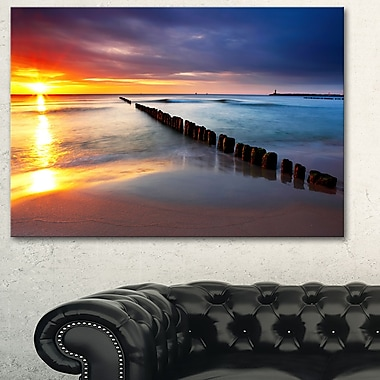 Baltic Sea Poland Beach Photography Metal Wall Art, 28x12, (MT6467-28-12)