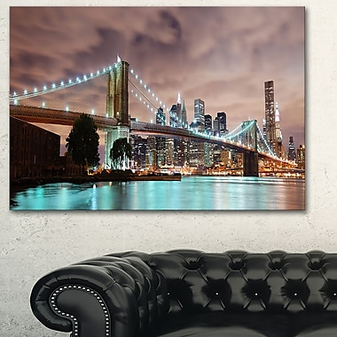 New York City Panorama Cityscape Metal Wall Art, 28x12, (MT6471-28-12)