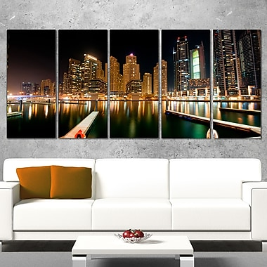 Dubai Marine Skyline Photography Metal Wall Art