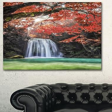 Erawan Waterfall Photography Metal Wall Art,28x12, (MT6478-28-12)