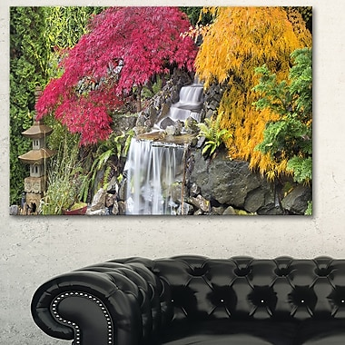 Japanese Maple Trees Floral Photography Metal Wall Art, 28x12, (MT6481-28-12)