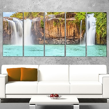 Dry Sap Waterfall Photography Metal Wall Art, 60x28, 5 Panels, (MT6490-401)