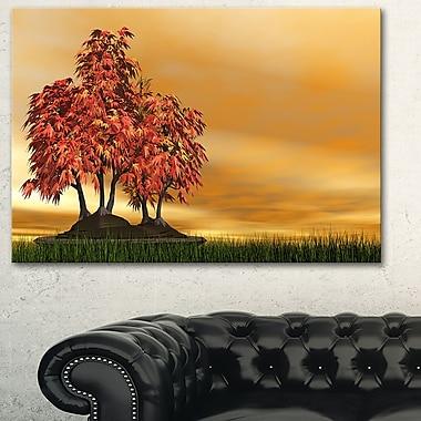 Art mural en métal, paysage de bonsaï, photographie, 28 x 12 (MT6492-28-12)