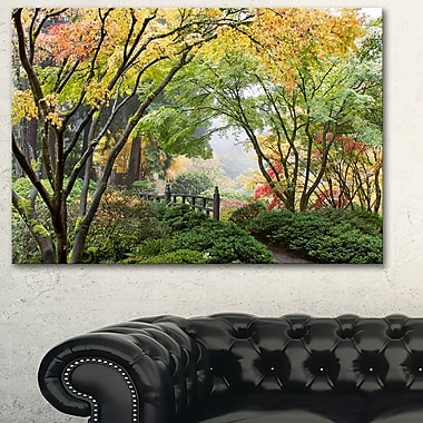 Maple Tree Canopy by Bridge Photography Metal Wall Art, 28x12, (MT6495-28-12)
