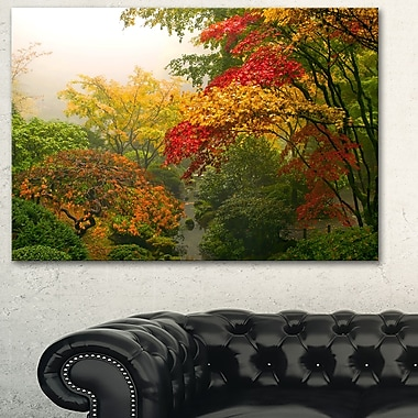 Colourful Maple Trees Floral Photography Metal Wall Art, 28x12, (MT6497-28-12)