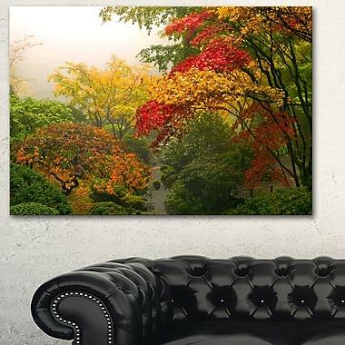 Érables colorés photographie florale art mural en métal, 28 x 12 (MT6497-28-12)