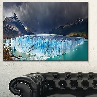 Perito Moreno Glacier Photography Metal Wall Art, 28x12, (MT6501-28-12)