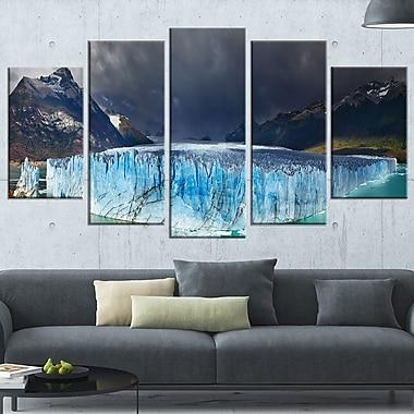 Art mural en métal, photographie de glacier, Perito moreno, 60 x 32 po, 5 panneaux, (MT6501-373)
