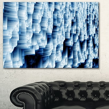 Abstract Blue Ice Photography Metal Wall Art, 28x12, (MT6502-28-12)