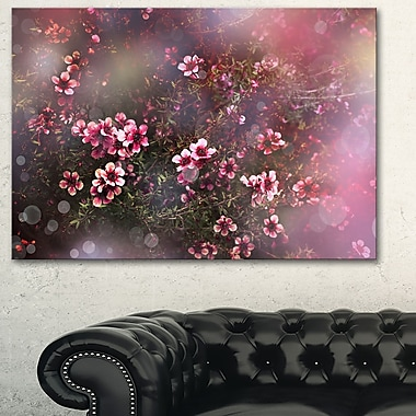 Sakura Japanese Cherry Photography Floral Metal Wall Art, 28x12, (MT6505-28-12)